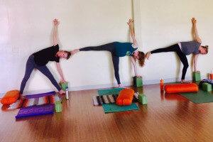 Jenny Rhodes prenatal yoga class