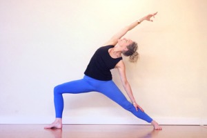 jenny rhodes yoga instructor doing yoga
