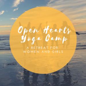 Open hearts yoga camp, Indianola, Wa.